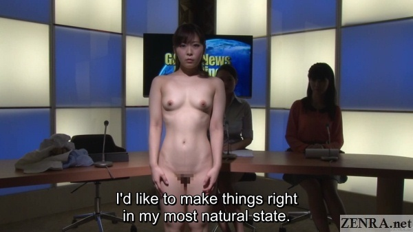 miori naked nudist news anchor