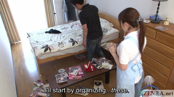 oshikiri nana housekeeper room full of dirty magazines