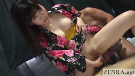 yukata jav cowgirl sex no condom