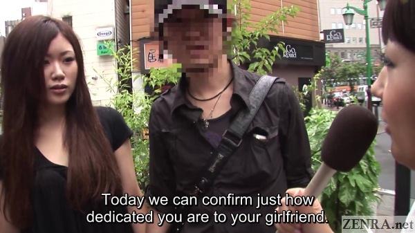 japanese street nanpa interviewing couple