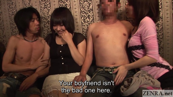 shy couple stripped and fondling at swapping club japan
