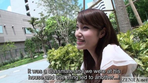 shirakawa meina interviewed about first time