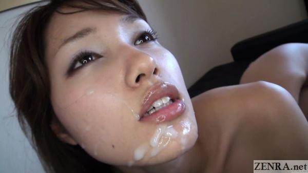 cum facial jav star meina shirakawa face close up
