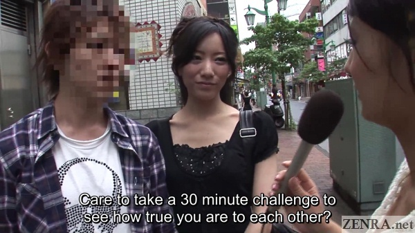 outdoor japanese couple interview