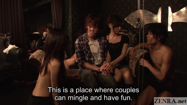 real couple visits japanese swingers club