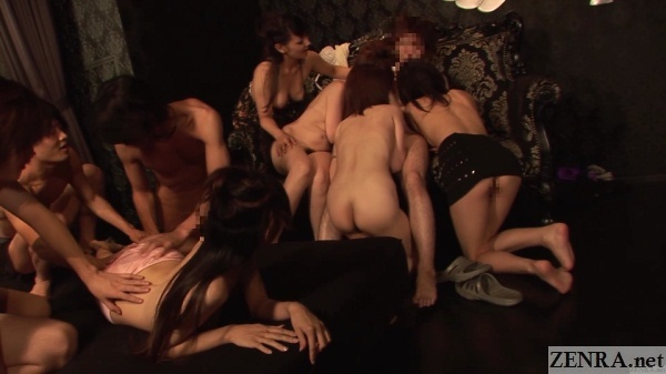 harem sex at japanese swapping club