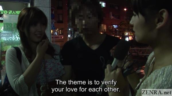 night time jav nanpa couple interview