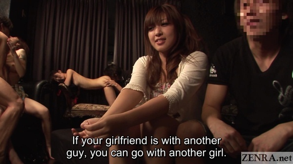 jav swapping club interviewing new couple